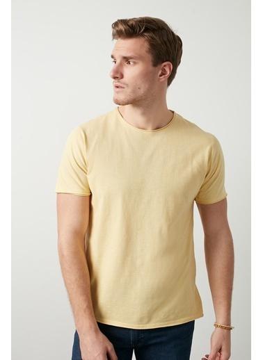 Buratti Buratti Bisiklet Yaka Erkek T-Shirt 0438202 Sarı